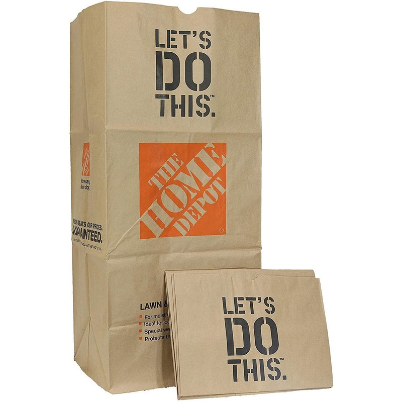 Heavy Duty Brown Paper Lawn and Refuse Bags for Home and Garden Brown