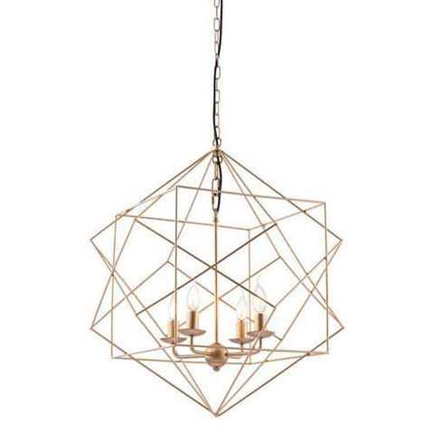 "24.8"" X 24.8"" X 72.8"" Gold Painted Metal Ceiling Lamp"
