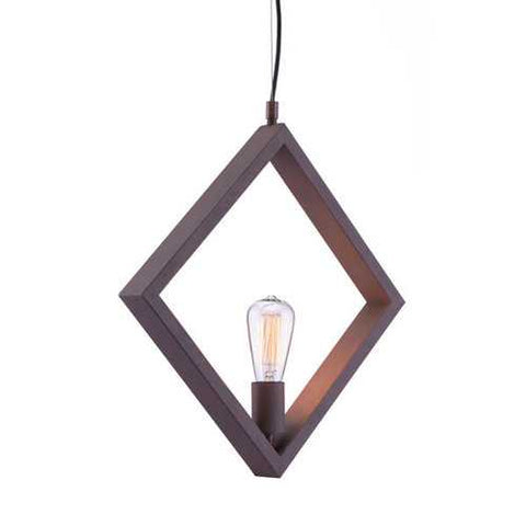 "17.7"" X 2"" X 17.7"" Rust Metal Ceiling Lamp"
