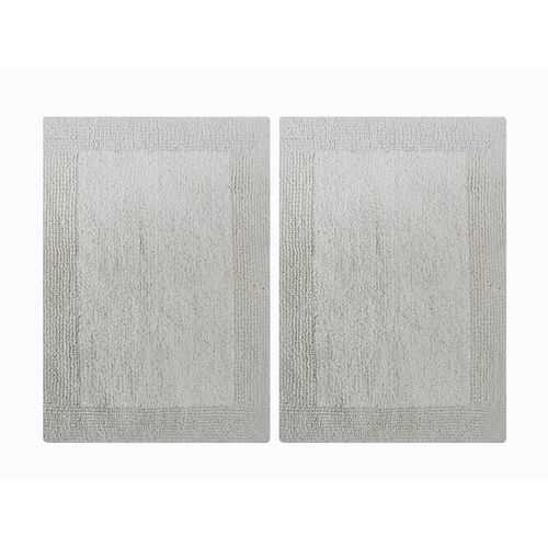 Reversible Step Out Bath Mat Rug Set- 2 Pc