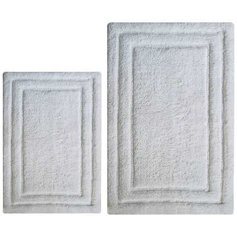 Classic 2 Pc Bath Rug Set - White