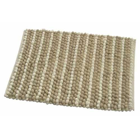 Beige Pebbles Home Bath Rug