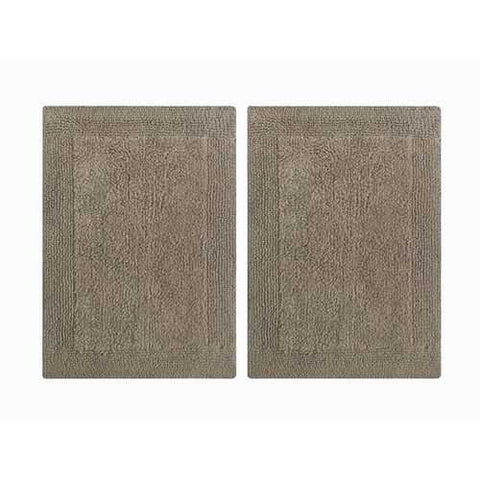 Splendor Reversible Step Out Bath Mat Rug Set- 2 Pc