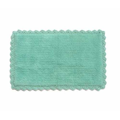 Aqua Blue Crochete Mat or Bath Rug