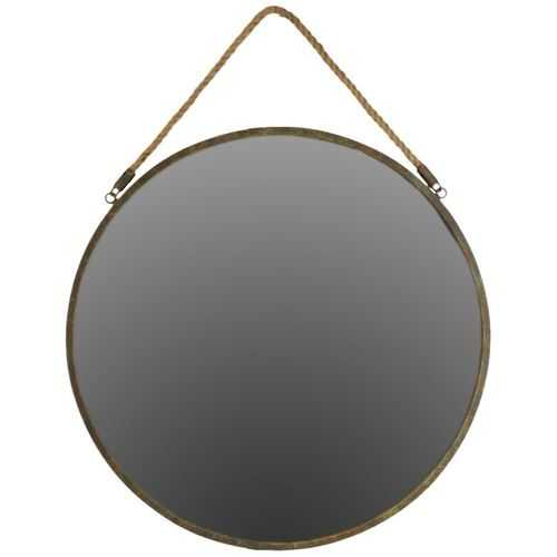 Striking Metal Round Wall Mirror