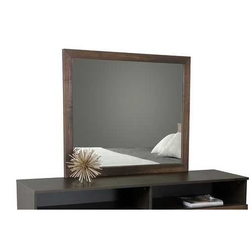 Modern Dark Aged Oak Mirror