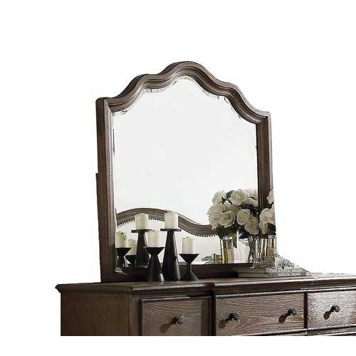 Mirror, Weathered Oak -  Wood, Oak Veneer,  Weathered Oak