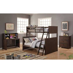 "49"" X 12"" X 16"" Antique Charcoal Brown Bed Bunk Set"