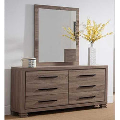 Gorgeous Dresser With Six Storage Drawers, Brown Finish.