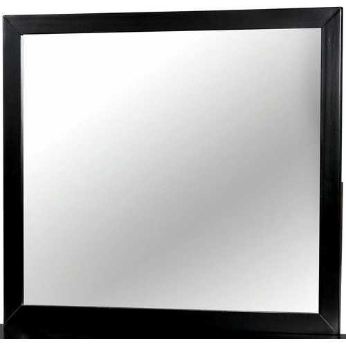 Modern Black Rectangular Mirror