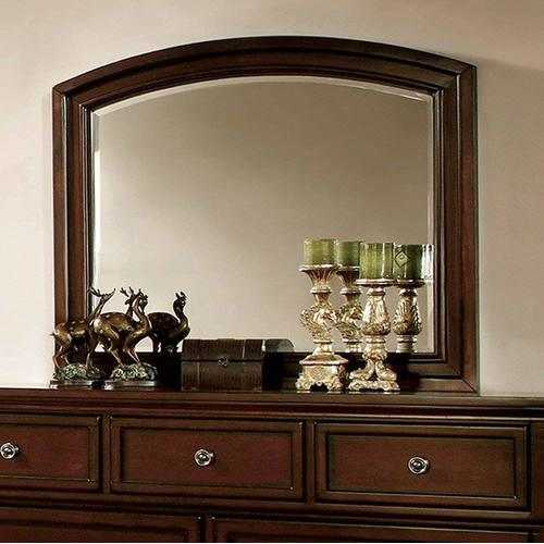 Transitional Style Mirror Dark Cherry