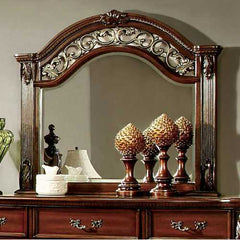 Traditional Elegant Style Mirror , Brown Cherry