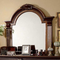 Luxurious English Style Mirror , Brown Cherry