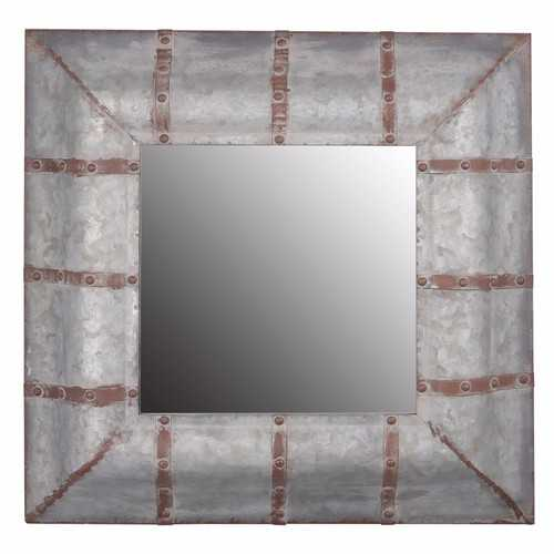 Unadorned Rustic Framed Mirror