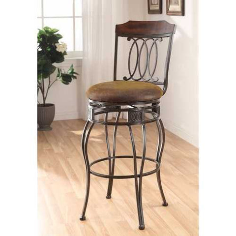 Bar Chair with Swivel, Brown, Set of 2