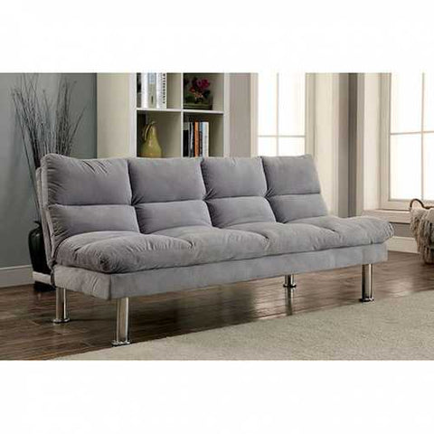 Gray Futon Sofa With Contemporary Style