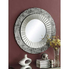 Beautifully Framed Accent Mirror, Silver