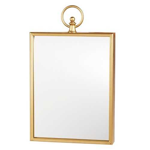 Wall Mirror With Metal Frame, Gold