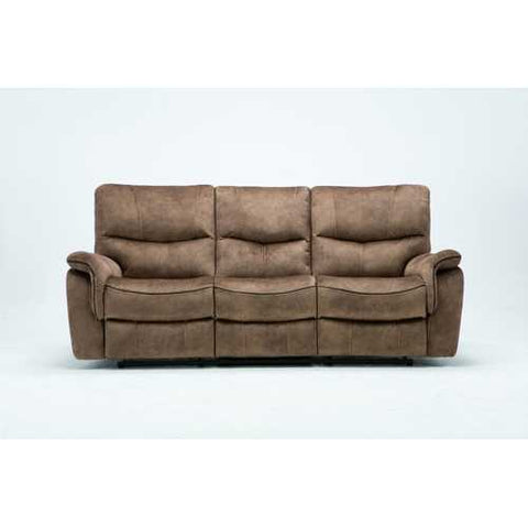 "40"" Elegant Light Brown Fabric Sofa"