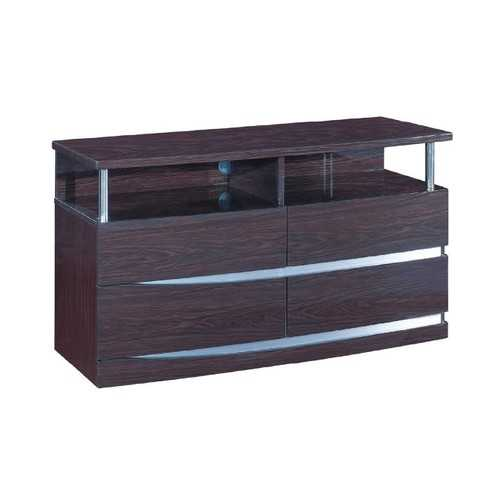 "27"" Exquisite Wenge High Gloss TV Entertainment Unit"