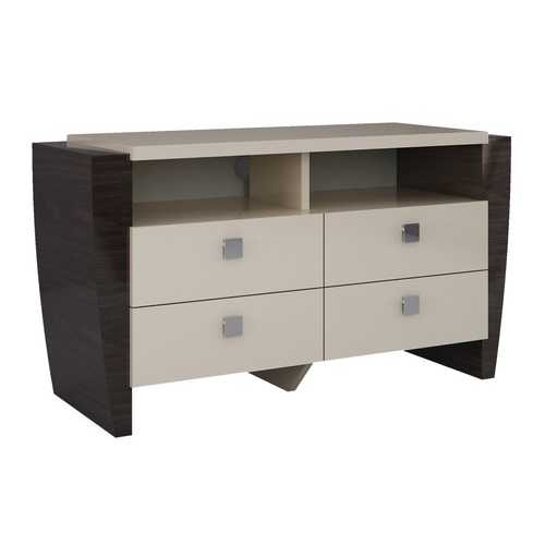 "28"" Refined Beige High Gloss TV Entertainment Unit"