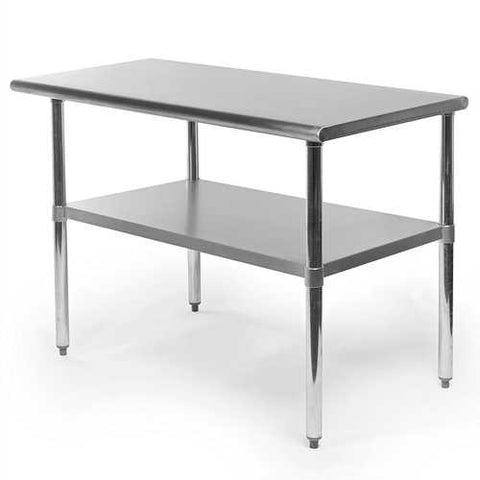 Stainless Steel 48 x 24 inch Heavy Duty Kitchen Work Table