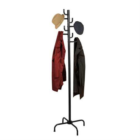 Black Metal Coat Rack Entry Hall Tree Hat Rack