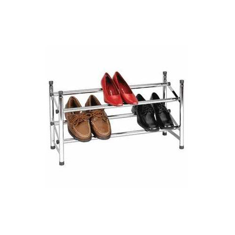 Expandable Two-Tier Shore Rack in Chrome