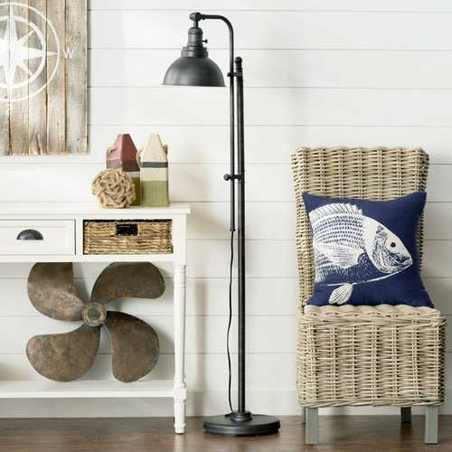 65-inch Tall Floor Lamp Task Light in Distressed Metal Finish