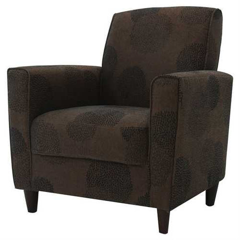 Modern Brown Flared Arm Chair in Premium Upholstery Grade Fabric