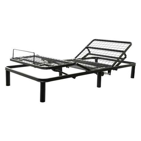 Twin XL Black Metal Adjustable Bed Frame Base with Remote