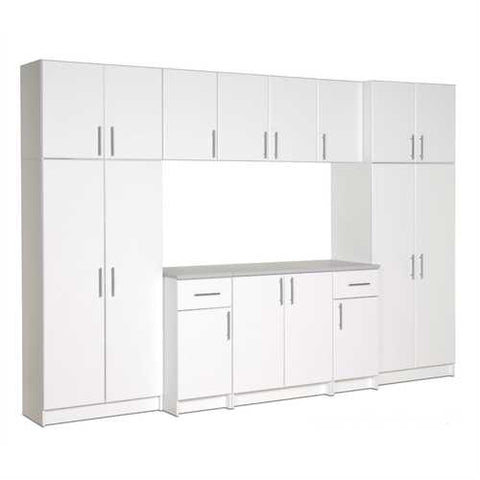 White Wall Cabinet with 2 Doors and Adjustable Shelf