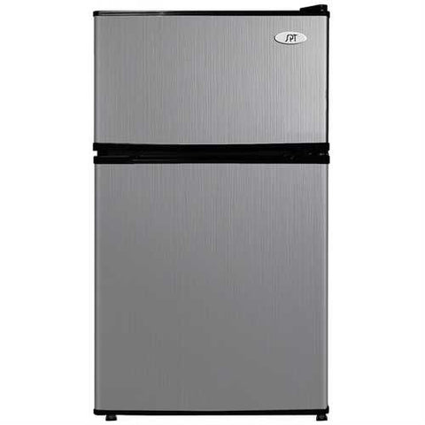 3.1 Cubic Foot Double Door Stainless Steel Refrigerator with Freezer