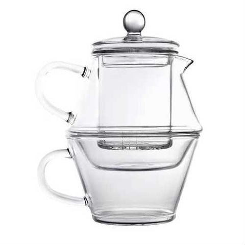 3-Piece Glass Teapot Set with Infuser and Tea Cup