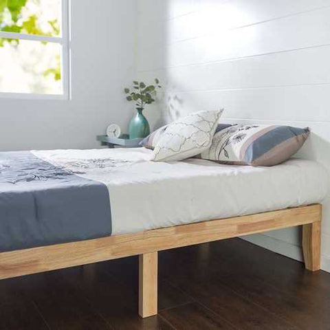 Twin Solid Wood Platform Bed Frame in Natural Finish