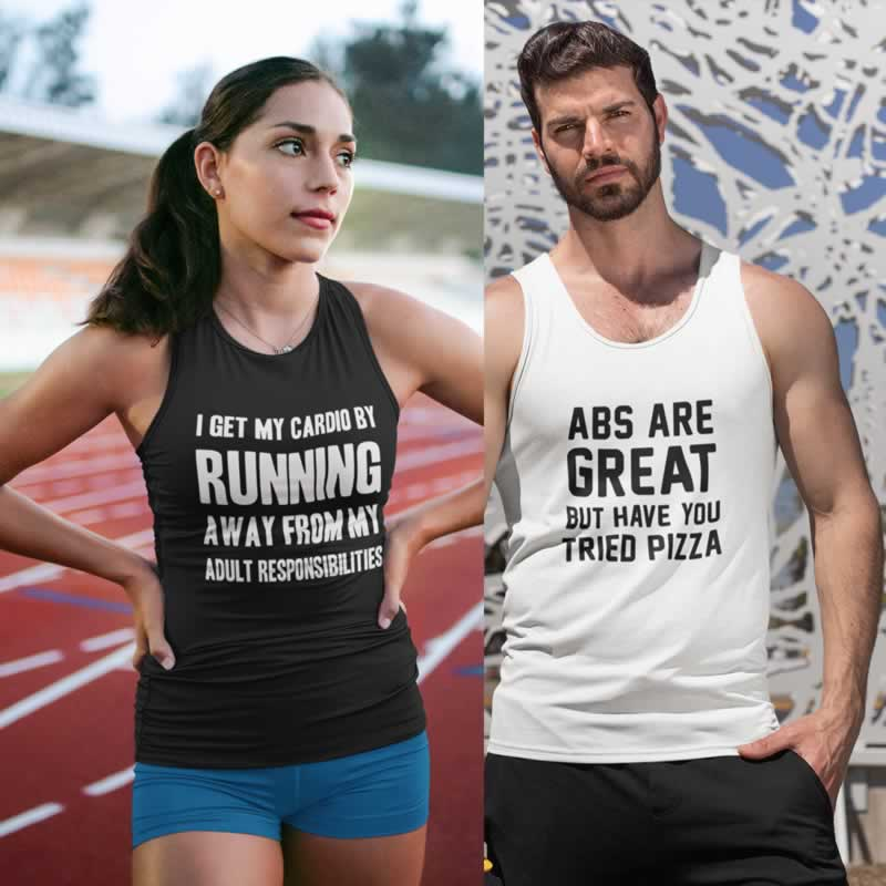 Funny Gym Vests & T-Shirts For Men And Women