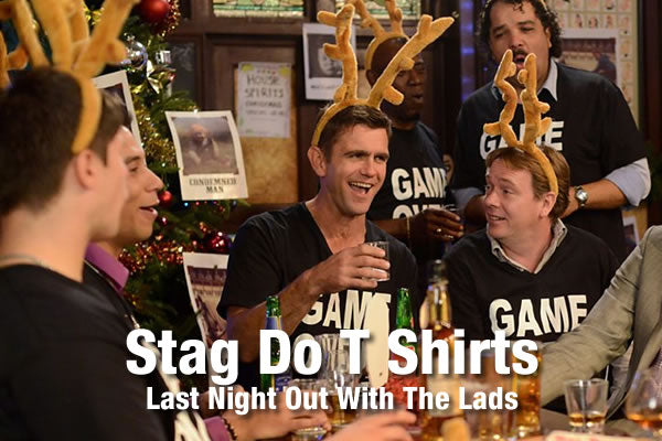 Custom Printed Stag Night T Shirts with free nickname printing