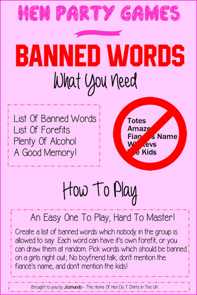 Banned Words - Hen Do Games