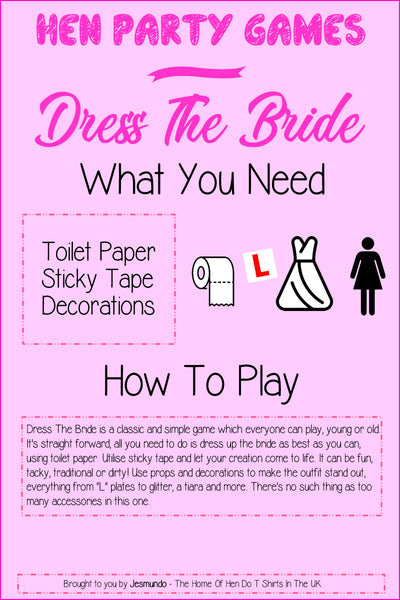 Dress The Bride - Hen Party Games