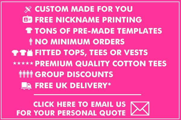 Get A Personal Quote For Hen Do T Shirts Printed