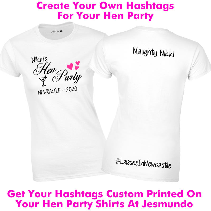 Your Own Personalised Hashtags For Your Hen Party