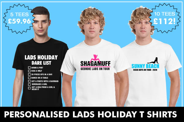Cheap Lads Holiday T Shirts Custom Printed