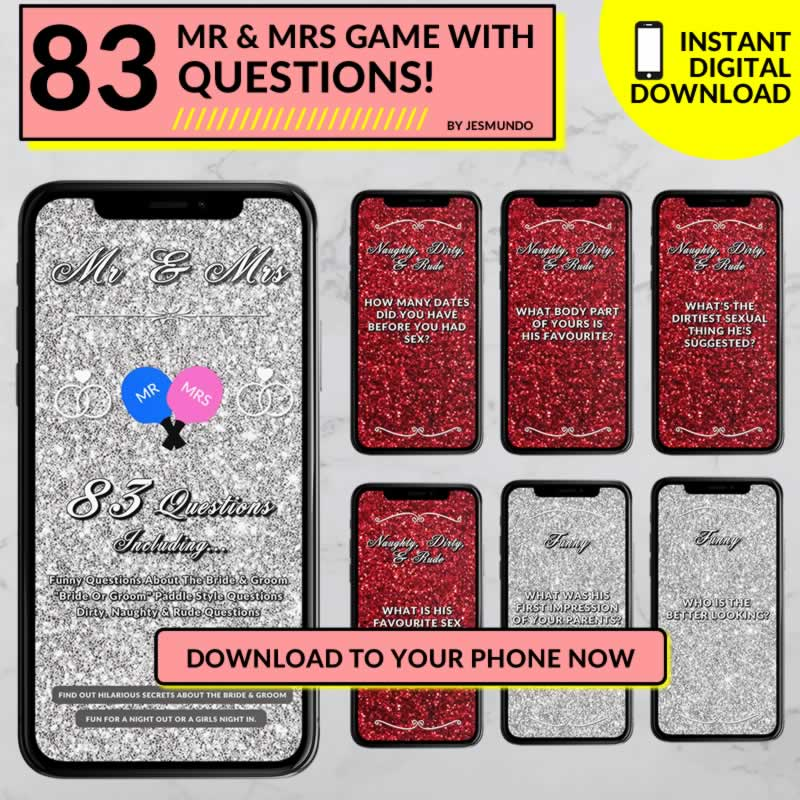 MR & Mrs Game Download With Questions For The Bride And Groom