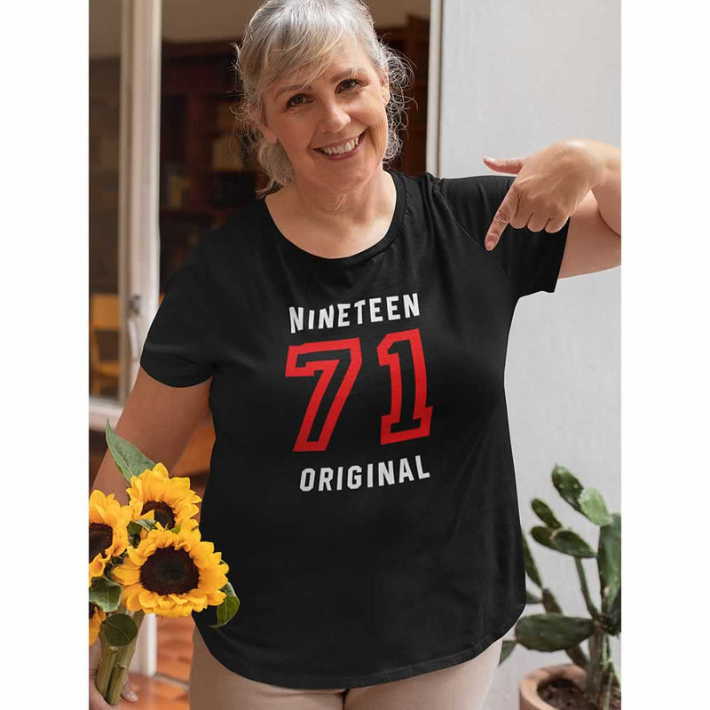 Women's 50th Birthday Bold Print T-Shirt
