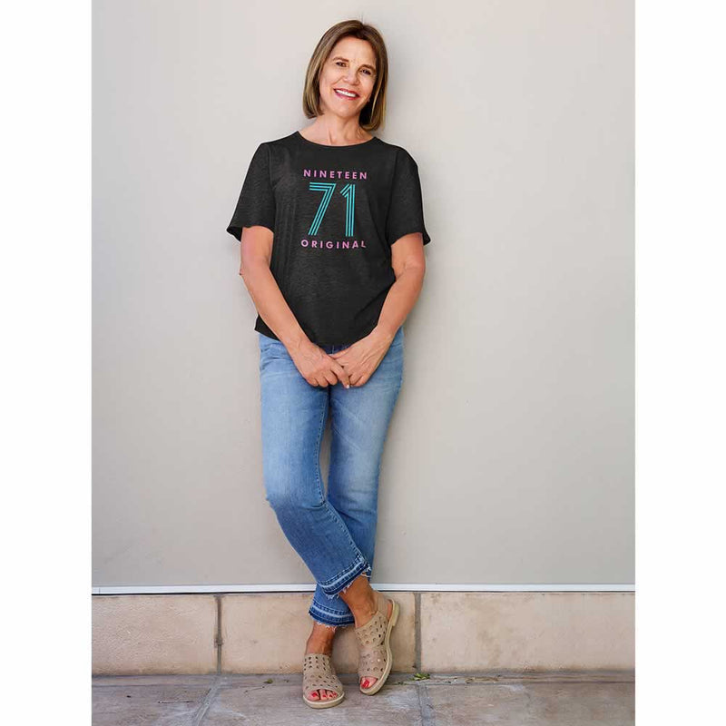 Women's 50th Birthday Neon Print T-Shirt
