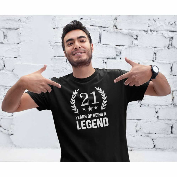 Men's 21 Years Of Being A Legend T-Shirt