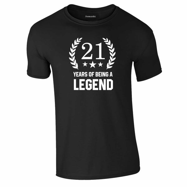 21 Years Of Being A Legend T Shirt For Birthday