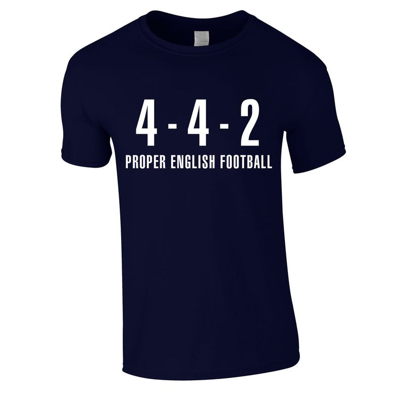 4-4-2 Proper English Football Tee In Navy