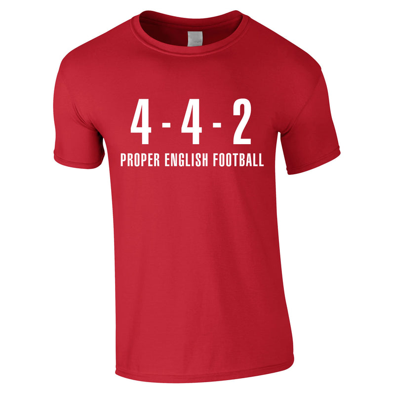 4-4-2 Proper English Football Tee In Red