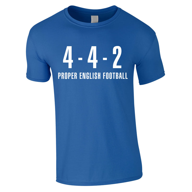 4-4-2 Proper English Football Tee In Royal